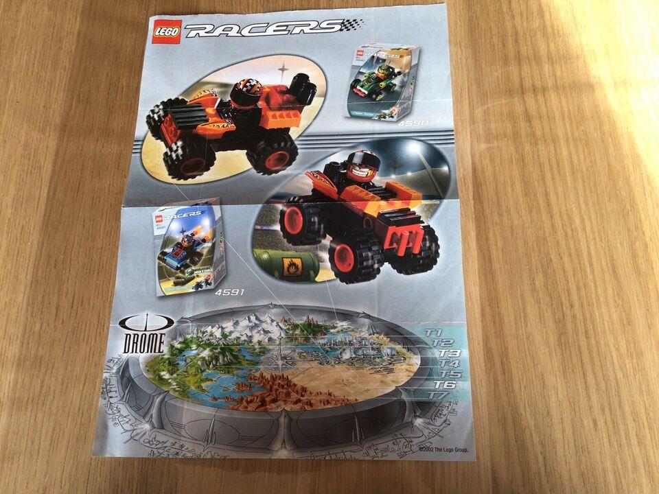 Lego Power Racers, Manualer