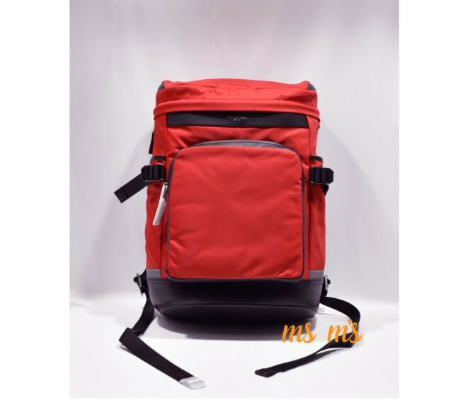 bac492a40819 Michael Kors Mens Kent Red Cycling Active Backpack Large BHFO 5317 ...