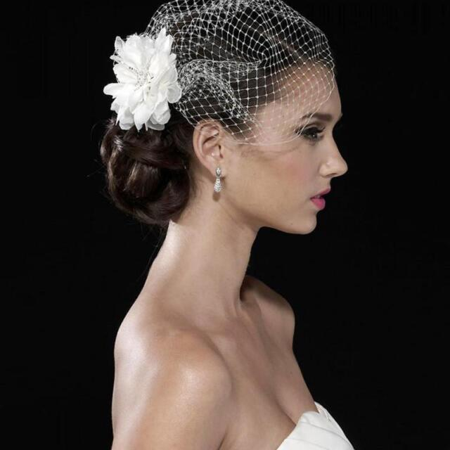 White Tulle Bird Cage Wedding Accessories Veil Bridal Birdcage Veils