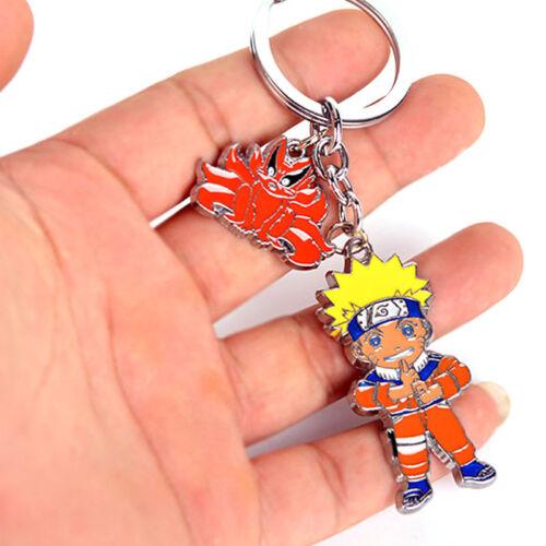 Naruto Uzumaki Kurama Nine-Tails Beast Pendant Keychain Cosplay Charm Keyring