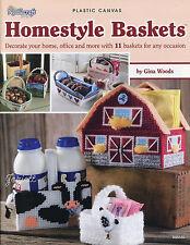 Homestyle Baskets ~ 11 Basket Styles plastic canvas patterns