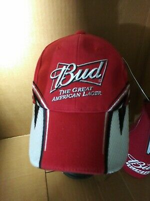"""Budweiser Nascar /""""The Great American Lager/""""  embroidered hat//cap New"""