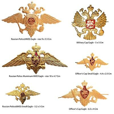 USSR Soviet ARMY Russia Russian Soviet Guards Imperial Eagle Emblem Badges