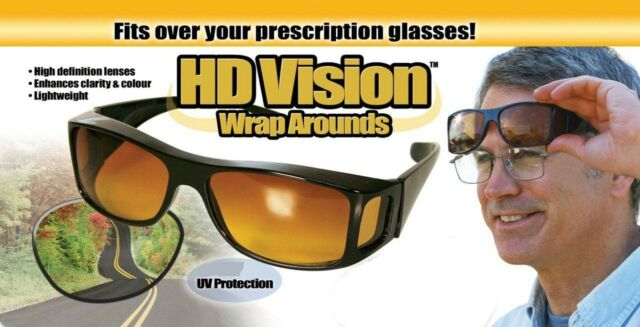 ac42b15dd1 as Seen on TV HD Vision Wrap Arounds Sunglasses 100 UV Protection ...