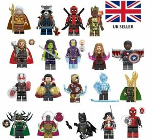 SUPERHEROES-AVENGERS-MINI-FIGS-amp-CUSTOM-MINIFIGS-DEADPOOL-DR-STRANGE