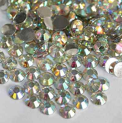 new 1000Pcs 4mm Nail Art Flatback Crystal 14 Facets Resin Round Rhinestone Beads