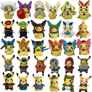 Image is loading Pokemon-2017-Sun-Moon-Plush-Costume-Cosplay-Pikachu-  sc 1 st  eBay & Pokemon 2017 Sun/Moon Plush Costume Cosplay Pikachu Soft Toy Stuffed ...