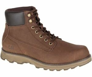 Mens Leather Intake Rrp £110 Dark Boot Caterpillar Brown Rum qwzx5f5dS
