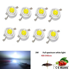 100 Pcs 3w Full Spectrum White 400nm 840nm Led Chip Grow Diode For Plant Grow