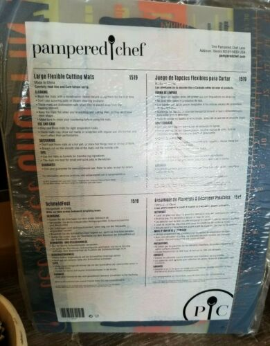 """New PAMPERED CHEF 1519 Set of 3 Flexible Cutting Mats 15/""""x11/"""" ~ NEW"""