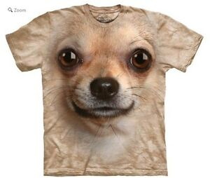 NEW-The-Mountain-Chihuahua-Face-Dog-Unisex-Adult-T-Shirt-100-Cotton-Clearance