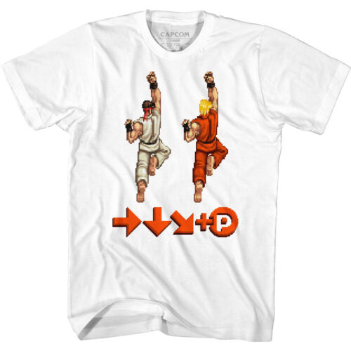 Street Fighter Video Game Sprite Punch Move Adult T Shirt