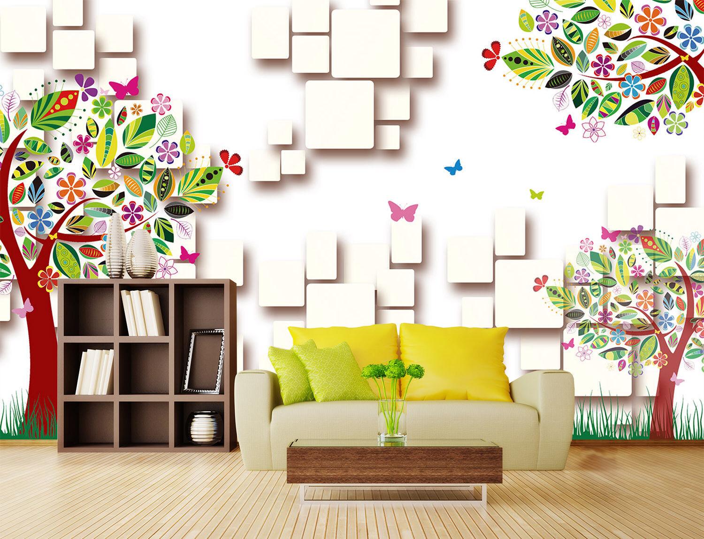 3D Farbe Tree 402 Wallpaper Murals Wall Print Wallpaper Mural AJ WALL AU Kyra