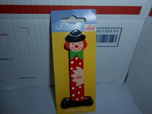 1 VTG NOS SEVI//CROCODILE CREEK HAND PAINTED ITALY WOODEN CLOWN LETTER YOU CHOOSE