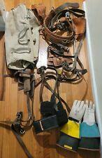 Bashlin Buckingham Tree Climbing Lot Spikes Safety Belt Hooks Gloves