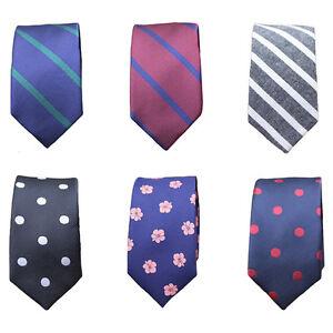 Men-Modish-Skinny-Polka-Dots-Flowers-Neck-Tie-Plain-Striped-Slim-Wedding-Necktie