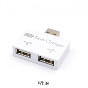 Mini 2 Port USB Hub Charger Hub Adapter USB Splitter for Phone Tablet Computer//