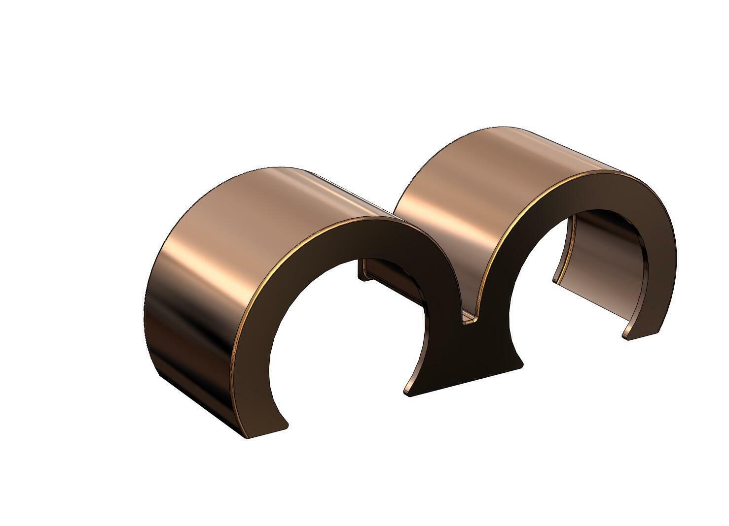 1 24 Double Hump Round Ends Fenders Peterbilt Kenworth Revell Resin
