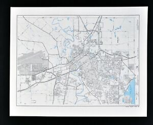 Texas Map Wichita County Sikes Lake Wichita Falls Sheppard Air Force Base Parks Ebay