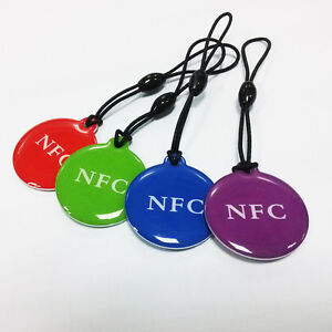 Details about 4X NFC Tags Label Keytag Ntag216 13 56mhz RFID Card for NFC  android phone
