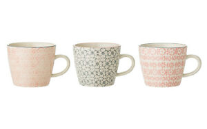 Tasse-mit-Henkel-039-Cecile-039-Keramik-Kaffetasse-Teetasse-handbemalt-Bloomingville