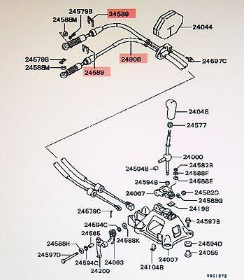 Genuine Mitsubishi New Manual Transmission Stick Shift Cable Eclipse Spyder Ebay