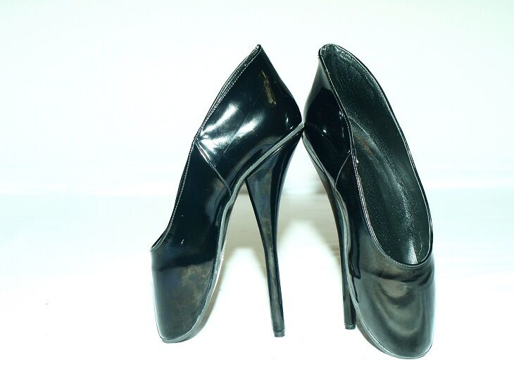 PATENT LEATHER BALLET PUMPS SIZE 10-16 HEELS-8,5'- PRODUCER POLAND FS1022