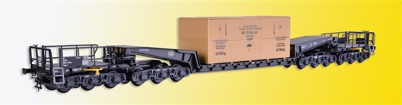 Kibri 16510 Gauge H0, Wagon Union Low Loader Rail Car Uaais 819