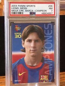 2004-Panini-Mega-Cracks-Barca-Campeon-35-Lionel-Messi-Rookie-PSA-7-Pop-13