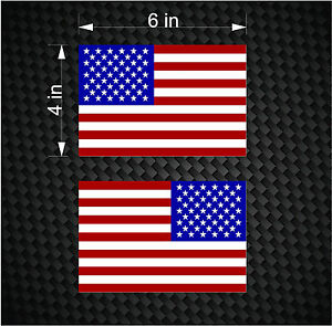 2 Digital 6 Quot American Flag Usa Mirrored Vinyl Decals For