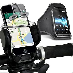 Quality-Bike-Bicycle-Holder-Sports-Armband-Case-Cover-In-Ear-Headphones-Grey