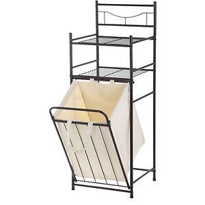 Image Is Loading Bathroom Towel Hamper Laundry Storage Basket Space Saver