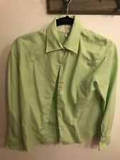 Lime Green Ladies Button Down Size M