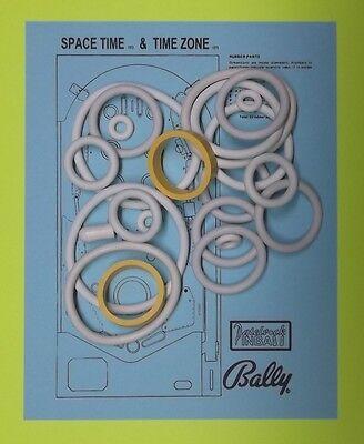 1973 Bally Time Zone Pinball Rubber Ring Kit