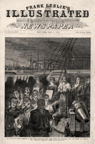 """Easter Ceremonies with the Officers Crew of Russian Ship """"Svetlana"""" - 1877"""