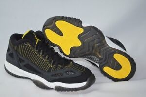 timeless design 48099 c06ff Details about Nike Air Jordan Retro 11 Low Black and Yellow Grade School  Kids' Shoe - 6Y
