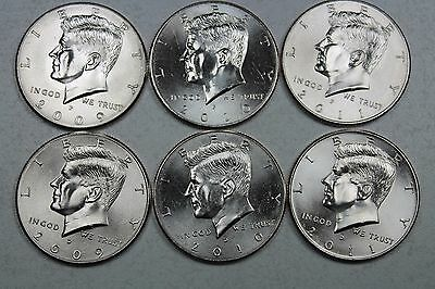 rolls 2019 Kennedy Half Dollars Uncirculated P/&D in gov mint roll 2