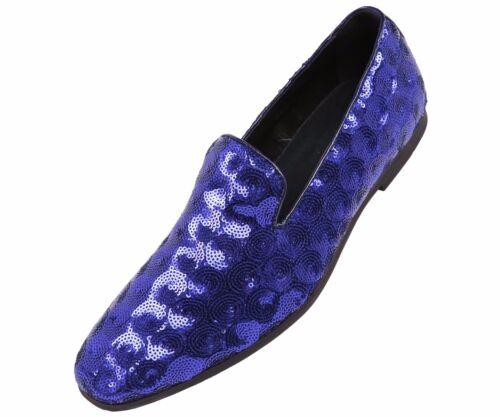 Amali Mens Royal Sequin Circle Patterned Smoking Slipper Dress Shoe Swirl-052
