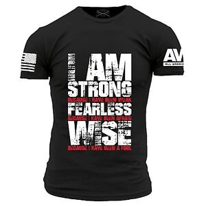 00dfd221 I'm Strong T-Shirt- Grunt Style AWN Men's Graphic Military Tee Shirt ...