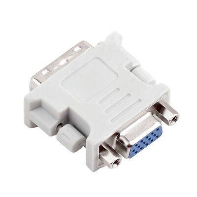 DVI DVI-I Male 24+5 Pin to VGA Female Video Converter Adapter for DVD HDTV FO