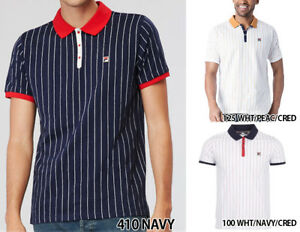 Details about New Authentic Men Fila M Vintage BB1 POLO SHIRT LM161RM5