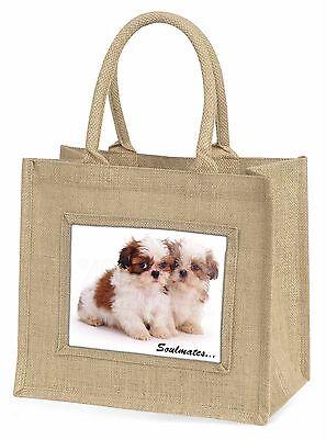 Shih Tzu Hunde Soulmates Große Natürliche Jute-einkaufstasche Weihnachten,