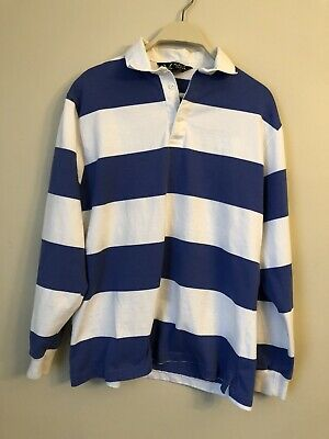 White Striped Vintage Polo Rugby Shirt