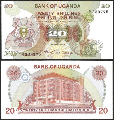 UGANDA 20 Shillings 1982 UNC Pick 17