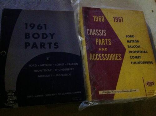 1960 1961 MERCURY METEOR /& COMET Chassis Parts /& Accessories Catalog Manual SET