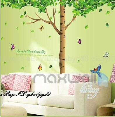 Mega Birds Butterfly Tree Removable Wall Sticker Decals Nursery Decor Kids Art