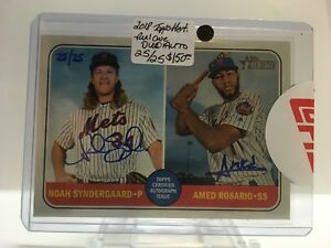 2018-Topps-Heritage-High-Noah-Syndergaard-Amed-Rosario-Mets-RC-DUAL-AUTO-25-25