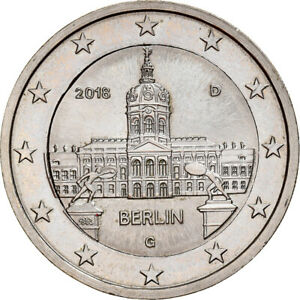 [#841025] Allemagne, 2 Euro, 2018, Karlsruhe, error with 1€ core, SPL+, Cupro-ni