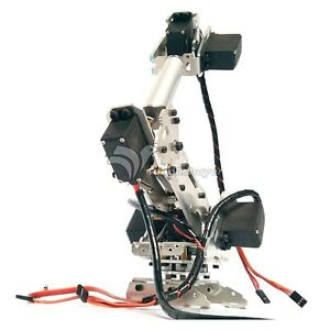 Details about 6DOF Stainless Steel Metal Robot Arm ABB Model Manipulator  with MG996R Servo