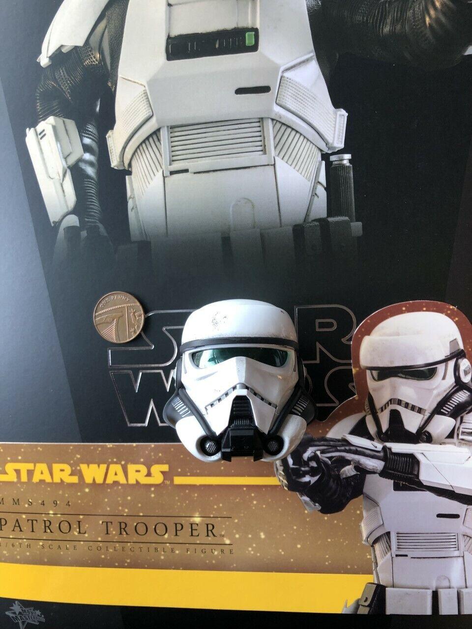 Hot Juguetes Estrella Wars Solo patrulla Trooper MMS494 casco esculpir Suelto Escala 1 6th